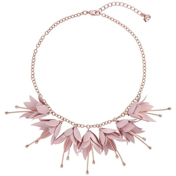Ted Baker Fawna Fuchsia Drop Flower Necklace 99 Liked On Polyvore Featuring Jewelry Necklaces Flor Crystal Bead Necklace Fuchsia Necklace Rose Gold Pink