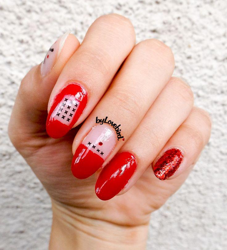Red minimalist nail art byLovebird.   #nails #nailart #red #rednails #fashion #style #art #naildesign #nailswag #nailinspiration #nailitdaily #minimalist #minimal