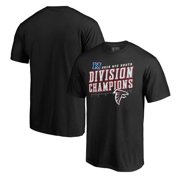 Atlanta Falcons NFL Pro Line by Fanatics Branded 2016 NFC South Division Champions Inches T-Shirt - Black - $27.99