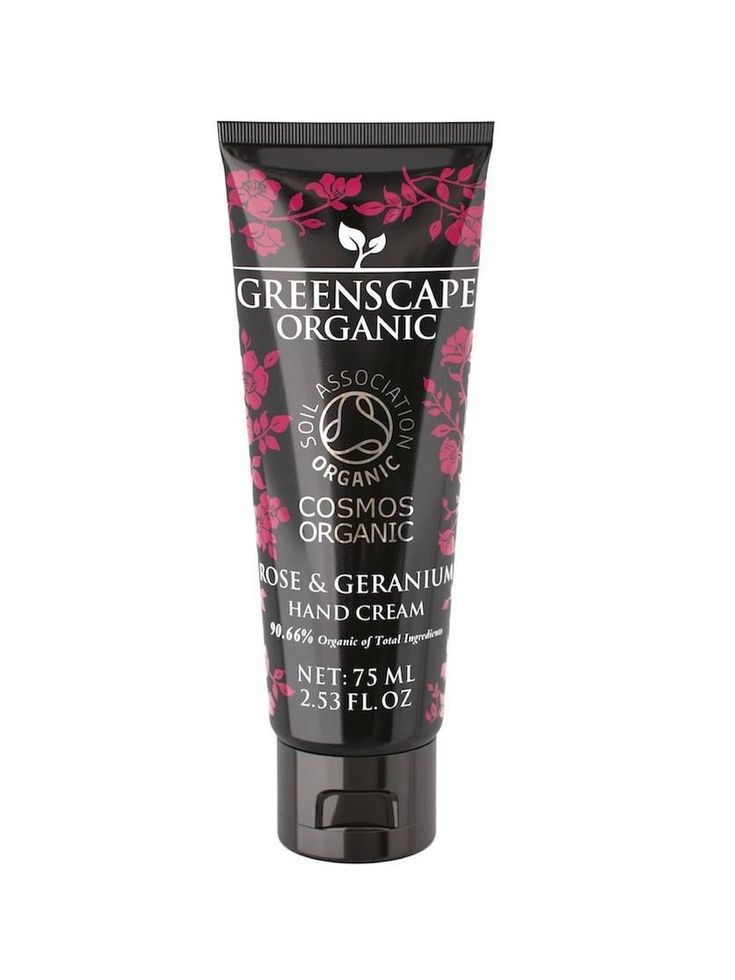 Greenscape Organic Hand Cream is formulated using organic shea butter, sunflower oil, cocoa butter, beeswax and vitamin E.  Greenscape Organic Hand Cream conditions, protects and leaves hands silky smooth.  Choose from four fabulous fragrances: Grapefruit & Lime, Mint & Bergamot, Lavender Wood and Rose & Geranium.  Greenscape Organic offers high-end, luxury skincare with the official Soil Association COSMOS-standard organic certification.
