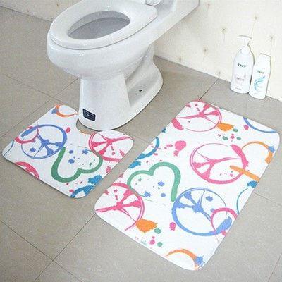 Nice High Quality Anti-Slip Antibacterial Soft 2-PC Floor Bath Mat Set 8 Designs
