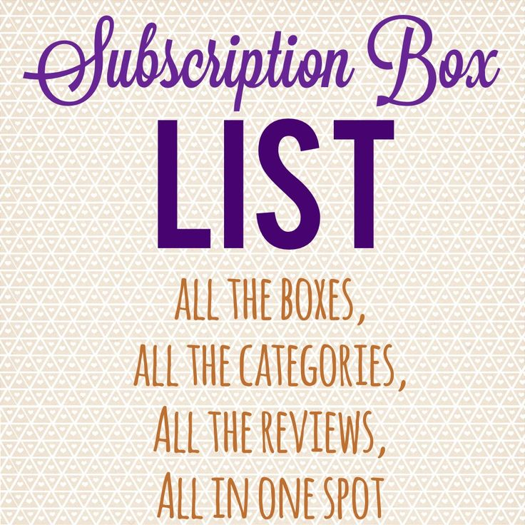 List of monthly subscription boxes - easy to use list of all the subscriptions plus coupons and deals!