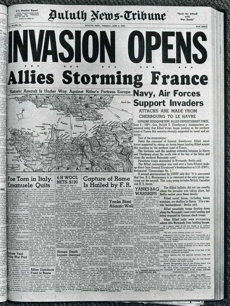 ww2 newspaper articles