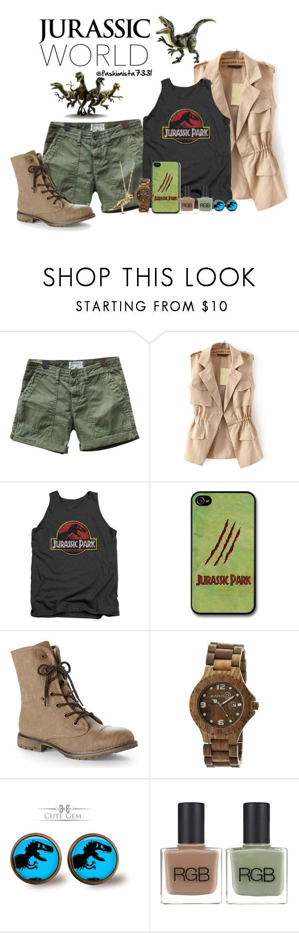 """""""Jurassic World"""" by fashionista7331 ❤ liked on Polyvore featuring Current/Elliott, Dirty Laundry, Earth, RGB and Dinosaurs"""