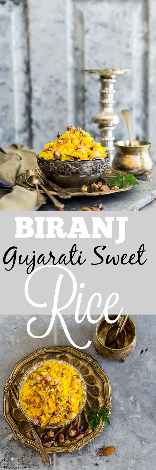 Jagruti's Cooking Odyssey: Biranj - Gujarati Sweet Rice and Bengal Gram with Nuts, Raisins and Aromatic Spices