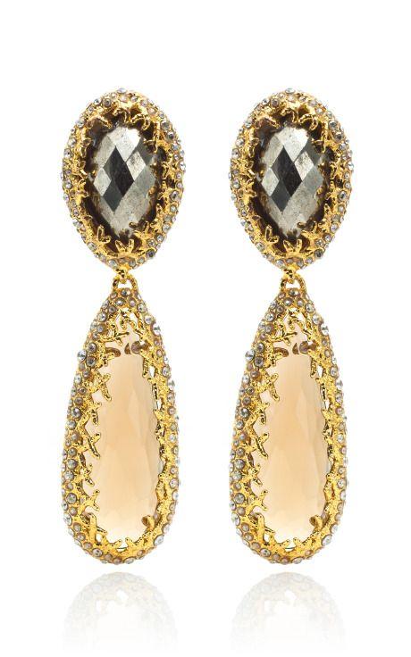 Alexis Bittar Siyabona Double Drop Clip Earrings