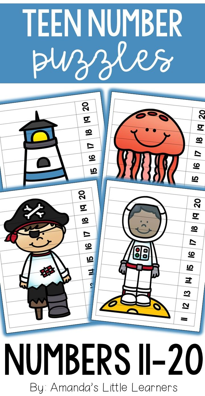 Number puzzles are a great way for students to use their creative minds to piece together a puzzle while also practicing their counting and number sequencing by making sure the numbers at the bottom of the artwork are in order. This set of number puzzles feature teen number sequences at the bottom! Each puzzle has a fun and random piece of clip art to interest all of your students. These fun puzzles are great for a math center or station.