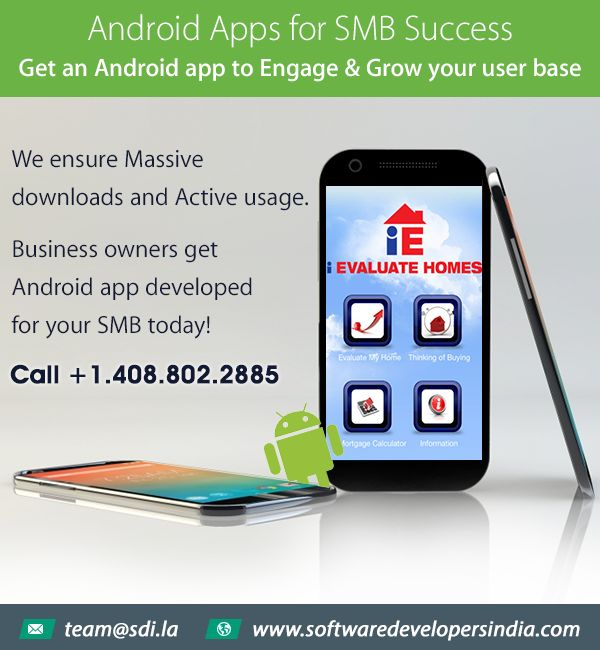 Android Apps for Small Business: Business Owners get #Androidapp developed for your #smallbusiness today and grow your user base. Call 408.802.2885 or email team@sdi.la for free app consultations.