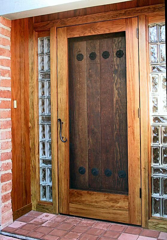 Rustic Door With Screen Door Mantles And Doors