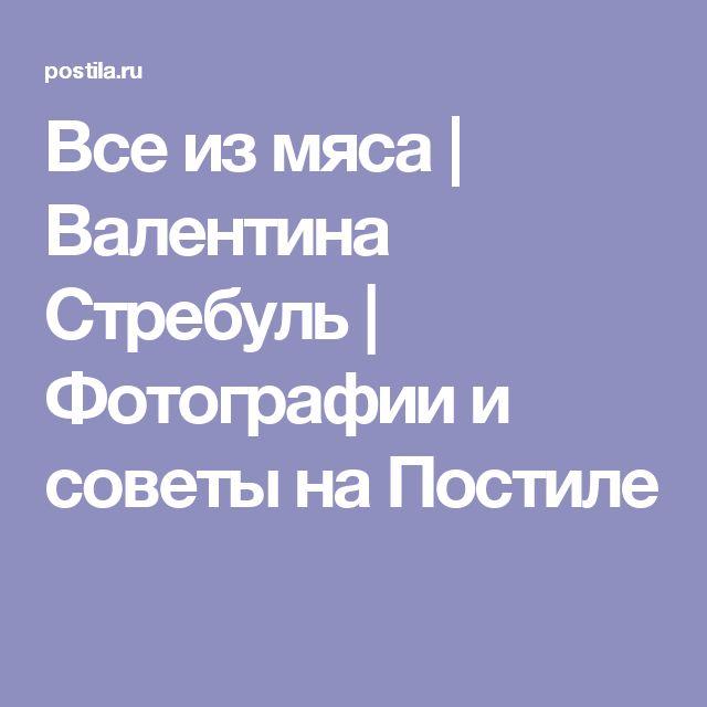 Все из мяса   Валентина Стребуль   Фотографии и советы на Постиле