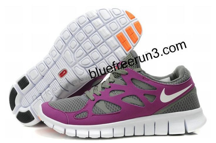 Womens Nike Free Run 2 Grey Orchid White Black Orange (US SIZE 5 - US SIZE 8.5)  cheap nike free runs, cheap wholesale nike free run, cheap discount nike free running shoes, nike free runnning shoes outlet  #NikeFreeHub# com