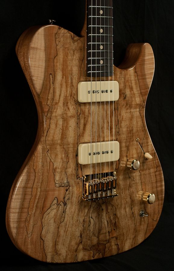 melancon p 90 artist spalted maple electric guitar vintage new cool guitars pinterest. Black Bedroom Furniture Sets. Home Design Ideas