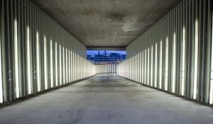 Nordhavn station  Copenhagen, Denmark CORE Arkitekter 2015  Photo: Lysdesign Sweco Danmark     Honoured at Danish Lighting Awards   At Copenhagen's Nordhavn station, a total of 250 illuminated Lay Light fibreglass tubes guide pedestrians and cyclists through the underpass and shortcut that links Nordhavn and Østerbro. Early this year,