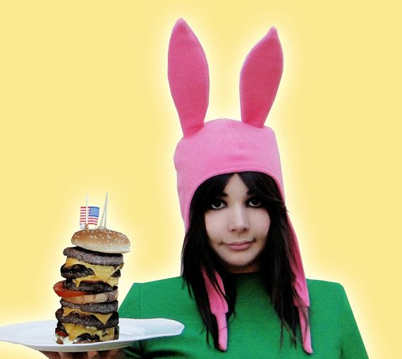 Louise's Bunny Ears Hat by EpicCostumes on Etsy, $23.00 Bob's Burgers