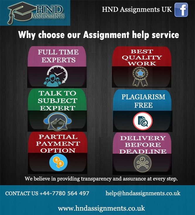 HND Assignment Help has been recognized as reliable and safe assignment writing services in UK. We provide 100% original assignments with 0% plagiarism.