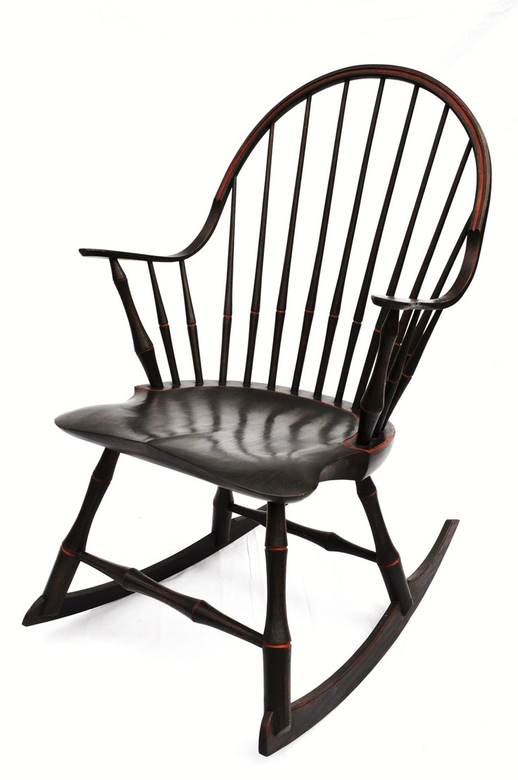 Continuous Arm Windsor Rocking Chair By Jacob Tittle Chairmaker