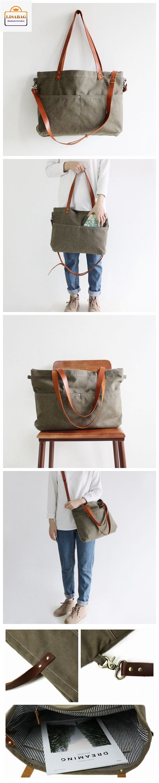 Handmade Canvas Tote Bag Messenger Bag Shopper Bag School Bag Handbag 14022 #diyhandbag