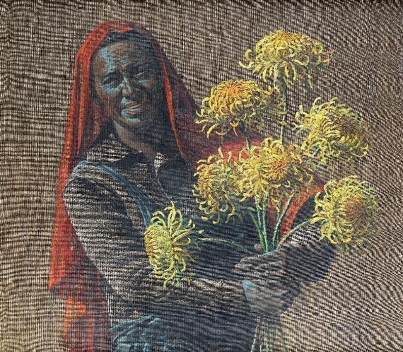 Vladimir Tretchikoff - Flower Seller, oil on canvas