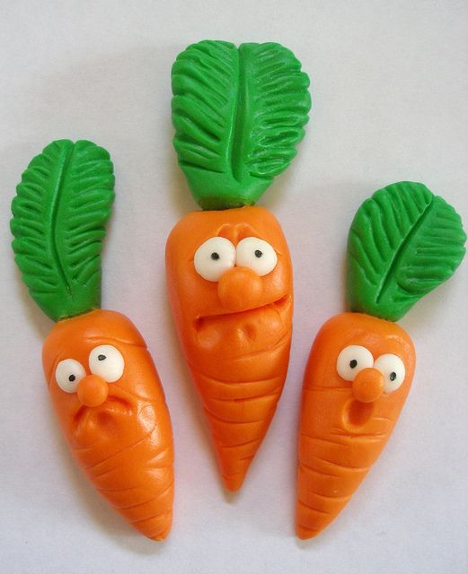 Fondant Carrot Cupcake Toppers by OccasionCreations, via ...
