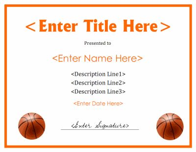 7 best basketball signs personalized images on pinterest gift printable basketball award certificate download free files in pdf and doc formats at http yadclub Choice Image