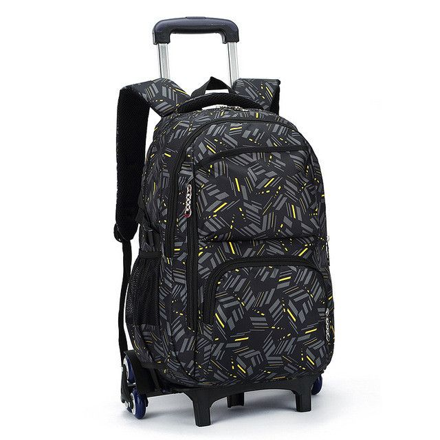 Hot Sales Removable Children School Bags with 3 Wheels Child Climb Stair Trolley Backpack Kids Wheeled Bags Boys Girls Bookbag