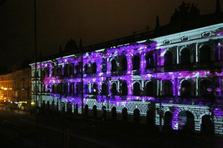 Celebrating 125 years, the Czech Academy of Science used 90x19 metre building projection using Wings Vioso designed and installed by Audiolight.