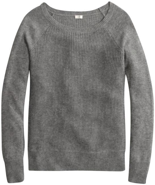 5748efe6 J.Crew Waffle Knit Crewneck Gray Sweater. Free shipping and guaranteed  authenticity on J