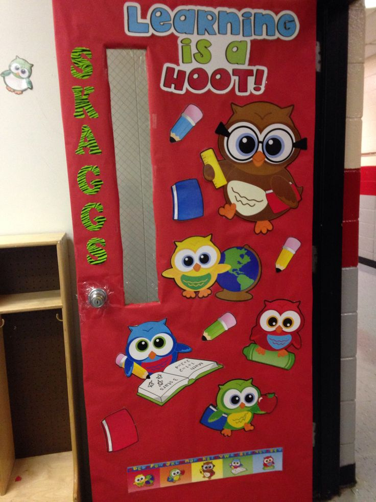 Owl Classroom Idea ~ Owl theme classroom door kindergarten ideas pinterest