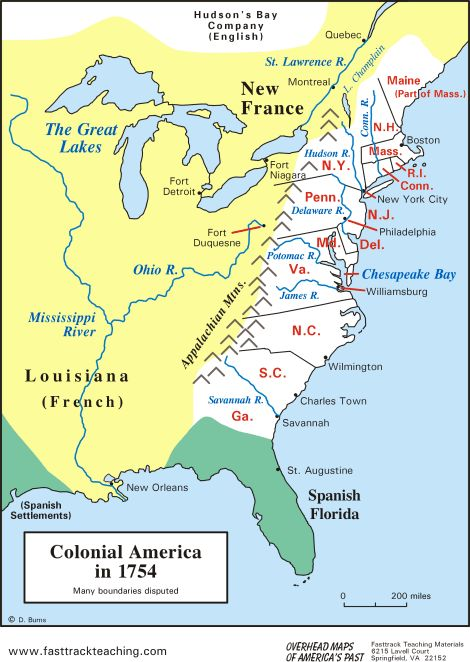 Colonial America in 1754 showing the 13 Colonies - The colonial history of the United States covers the history of European settlements from the start of colonization of America until their incorporation into the United States. In 1492, a Spanish expedition headed by Christopher Columbus sailed for India to sell, buy, and trade rich spices and other goods, inadvertently discovering what is today North America.
