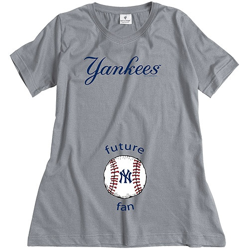 New York Yankees Future Fan Maternity T-shirt by Soft As A Grape - MLB.com Shop