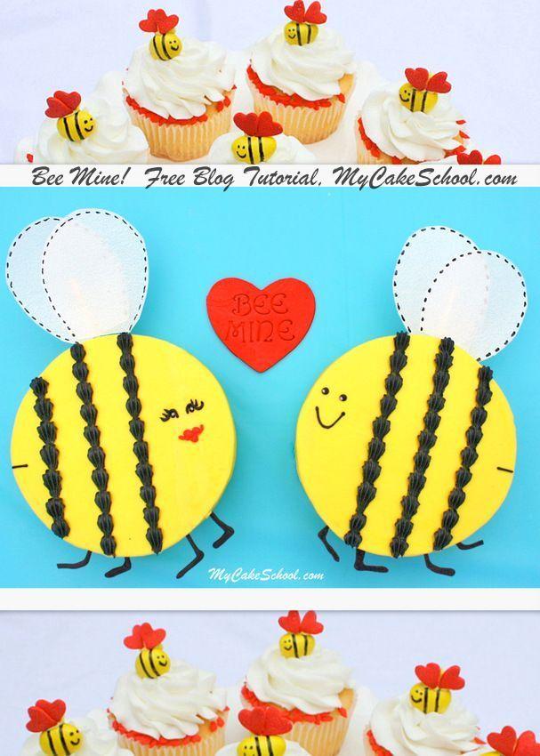 Bee Mine A Valentine S Blog Tutorial Cake Decorating Tutorials