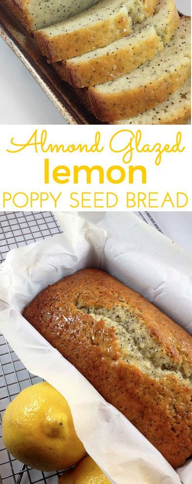 The crackly almond glaze sets this Lemon Poppy Seed Bread recipe apart. http://www.throughherlookingglass.com/