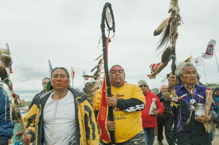 Protesters demonstrate against the Energy Transfer Partners' Dakota Access oil…