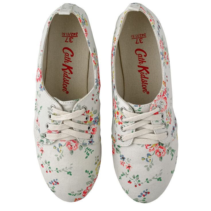 Bleached Flowers Lace Up Espadrilles | Cath Kidston |
