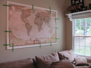 40 best wall of world map images on pinterest world maps good some of the best mounting instructions how to frame a large world map gumiabroncs Gallery