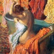 Seated Bather Drying Herself  by Edgar Degas