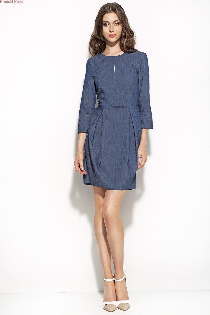 Sukienka TULIPAN HIT - jeans  Zapraszamy do sklepu internetowego Eve Polka.
