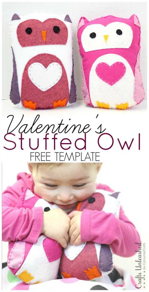 Owl Template: Stuffed Owl Tutorial - Crafts Unleashed