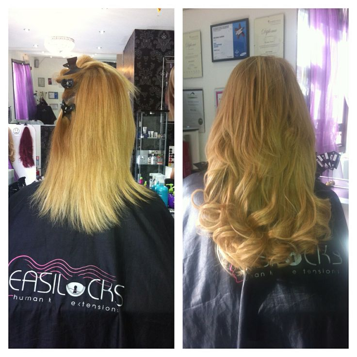 Easilocks hair extensions at Macs Glasgow. First certified salon in Scotland to have the brand in 2012.