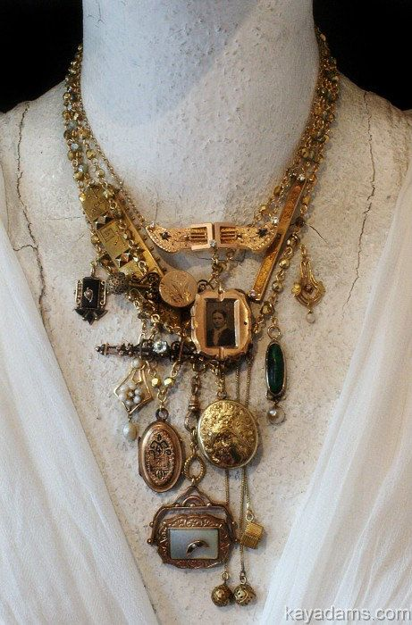 Estate Necklace  Made with Your or Your Grandmother's by KayAdams,