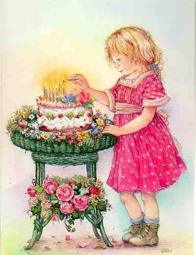 Encendiendo las velas de la torta de cumpleaños - Lisi Martin