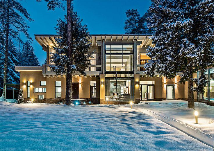 Современный дом с панорамным остеклением | Архитектурные проекты | Журнал «Красивые дома»