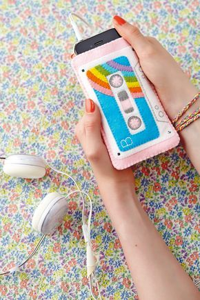 DIY felt iPhone cover and mobile cosy | Full tutorial in Mollie Makes issue 41