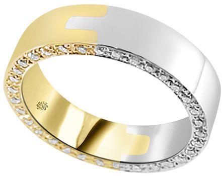 1.10 Carat Nero Mans Diamond Wedding Band