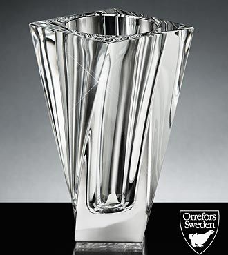 Orrefors Crystal Tornado Vase