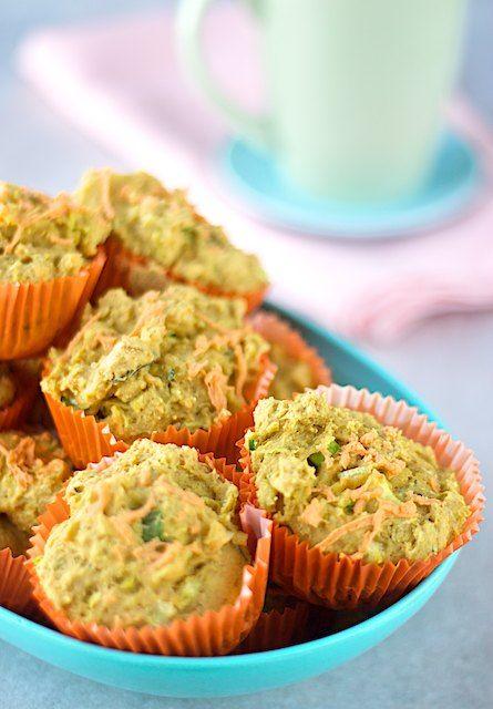 11 vegan gluten free cheesey zucchini muffins