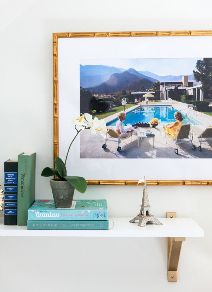 Lovely Vignette Featuring Art By Slim Aarons In Our Mandalay Frame. | Via  @StyleYourSenses