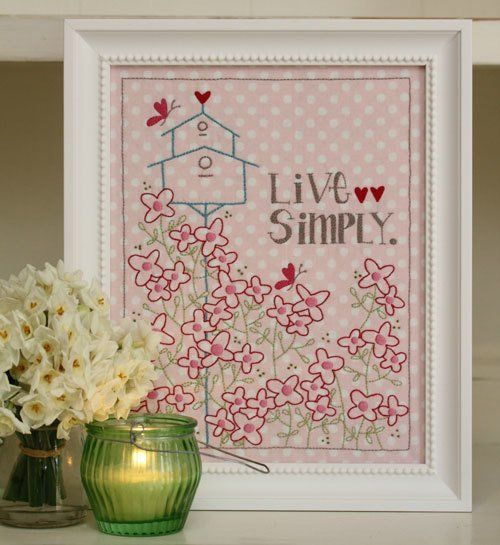 """""""Live Simply"""" designed by Leanne Beasley for Leanne's House."""