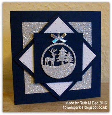 Deer & Trees Ornament Christmas Cards