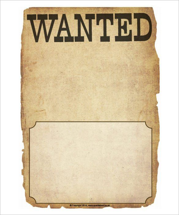 30 Wanted Poster Template Free Printable In 2020 Poster Template